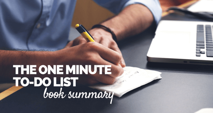 The One Minute To Do List Book Summary and PDF