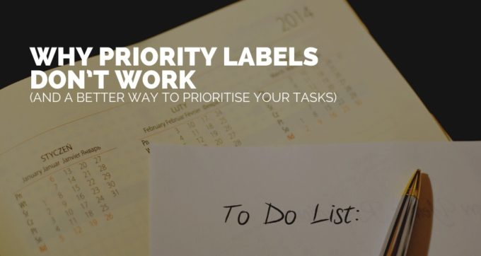 Why priority labels don't work (and a better way to prioritise your tasks)